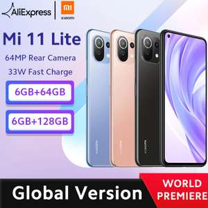 [Aliexpress] Global Version Xiaomi Mi 11 Lite Smartphone (Amoled, Snapdragon 732G, 64MP) 64/128GB