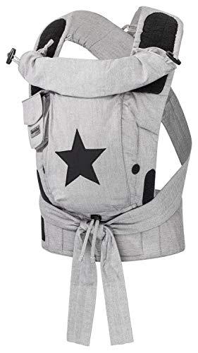 Bondolino Plus Babytrage - grau mit Stern @Amazon
