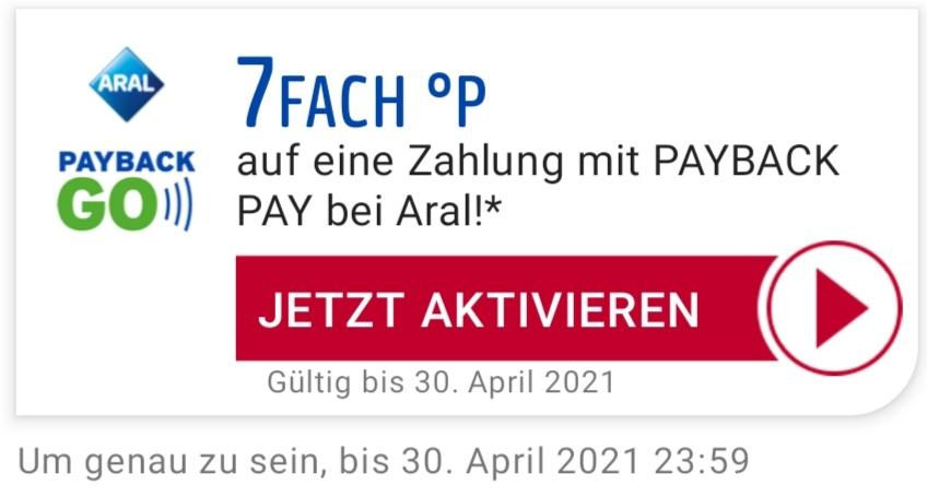 [Personalisiert] Aral Payback GO - 7fach auf eine Zahlung mit PAYBACK PAY