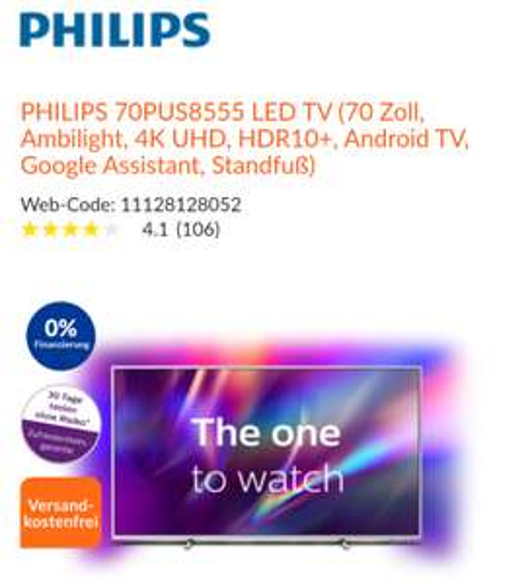 Philips 70 PUS 8555 (Expert Euskirchen)