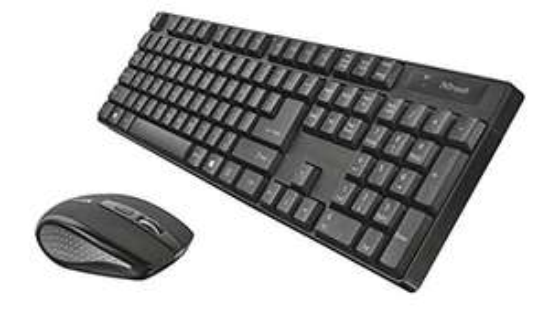 Trust 21133 Ximo Funk QWERTZ-Tastatur + Maus schwarz (Prime)
