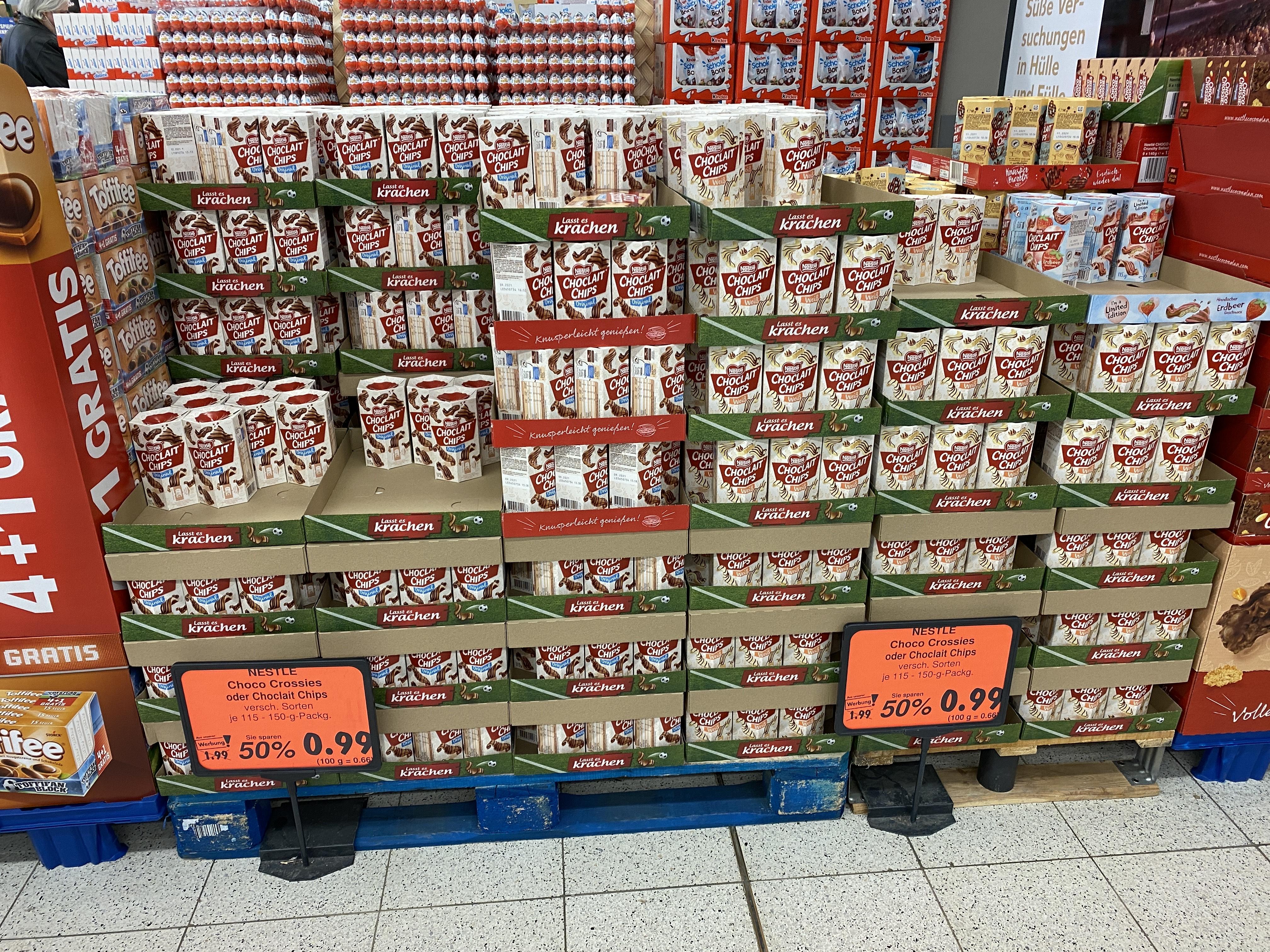 (Lokal) Kaufpark Eiche Kaufland - Choclait Chips oder Choco Crossies für 0,99€