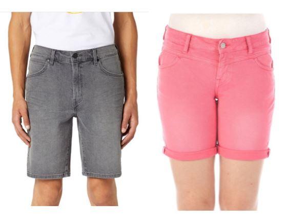 [Jeans-Direct] Couple-Goals - Wrangler Herren-Shorts ab 18,59€ / Mustang Damen Bermuda-Shorts ab 16,61€
