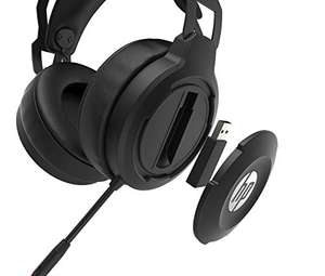 HP X1000 Wireless On-Ear Gaming Headset in schwarz | Kabellos | 7.1 Surround Sound | 50mm Treiber | LED-Stummanzeige | USB-Dongle