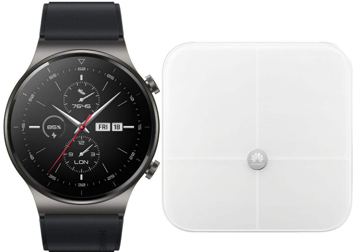 Huawei Watch GT 2 Pro + Körperfettwaage (19,99EUR) + austauschbare Armband (gratis)