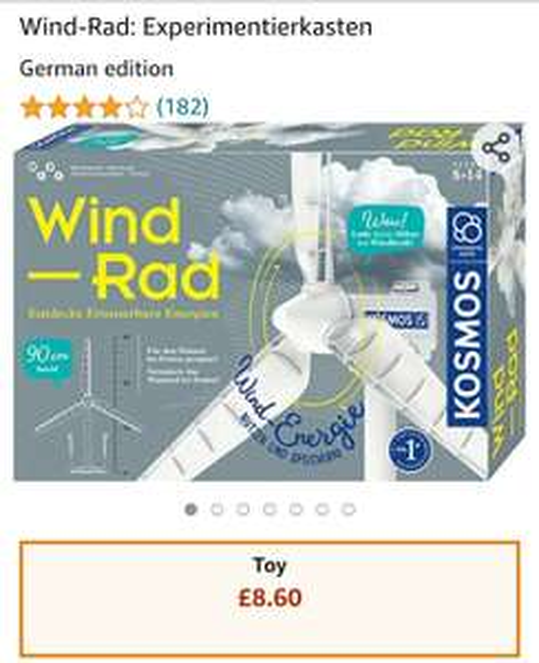 Wind-Rad: Experimentierkasten