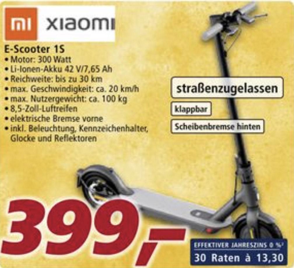 [real Family&Friends] Xiaomi E-Scooter 1S für 279,30€ (statt 372,79€)