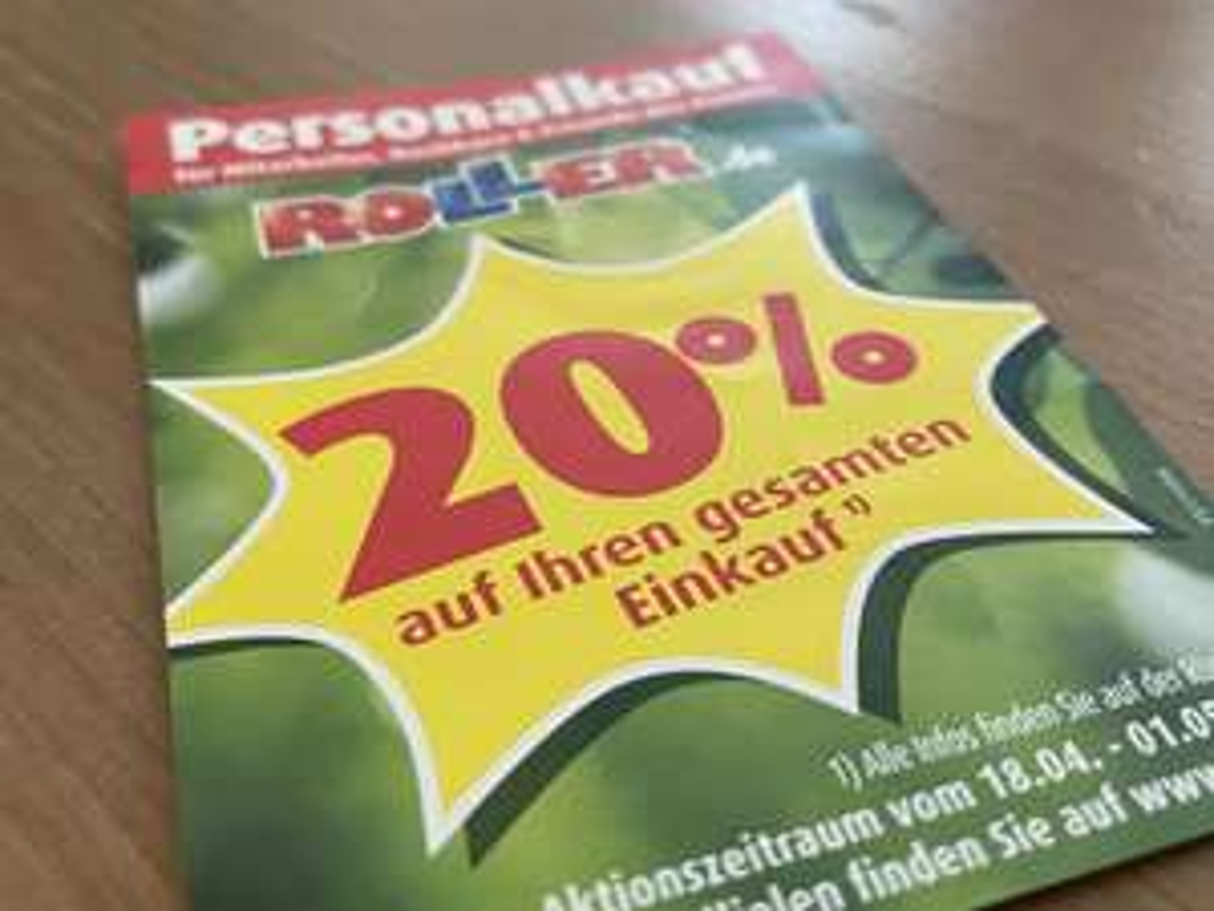 Roller: 20% auf (fast) alles [Filiale + Online]