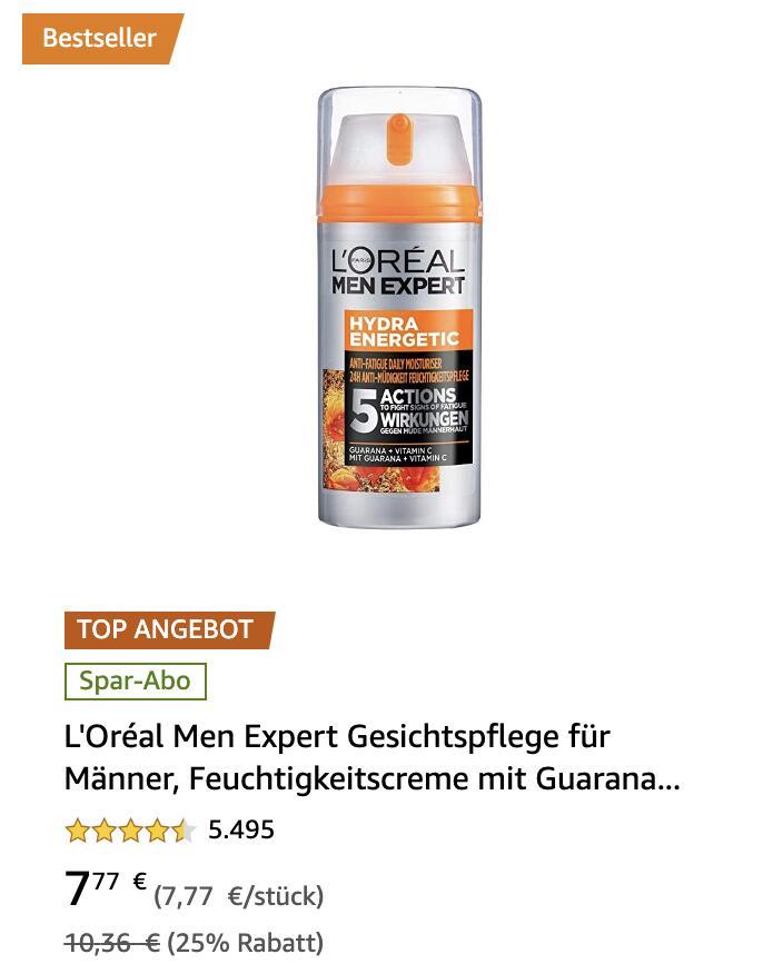 L'Oréal Men Expert Produkte stark reduziert (bis zu 39%)!