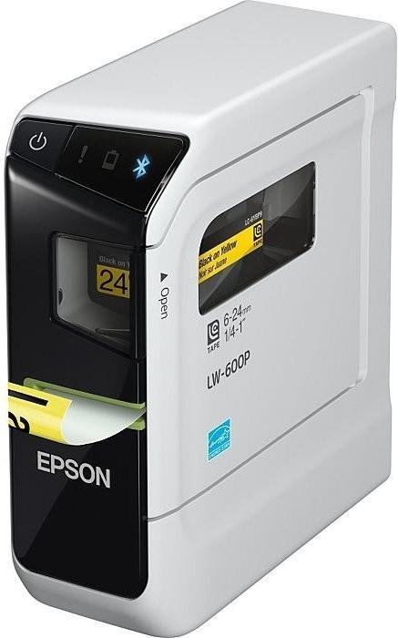 Epson LabelWorks LW-600P Etikettendrucker (Ansteuerung über PC/App per USB/Bluetooth, 180dpi, 6-24mm Bandbreite, 15mm/s, Auto-Abschnitt)