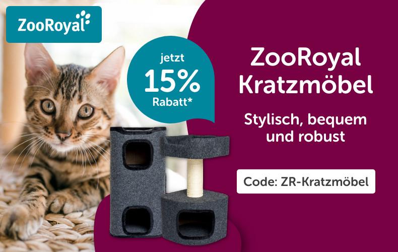15% Rabatt auf alle Kratzmöbel der Marke ZooRoyal