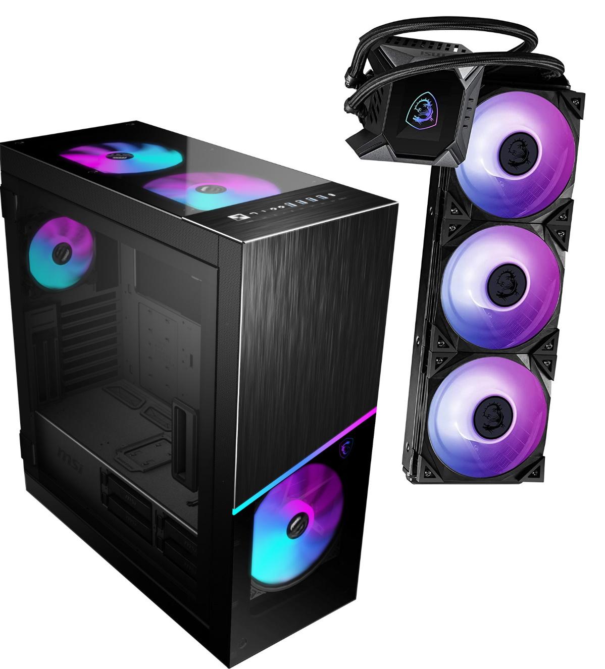 Bundle: MSI MPG Sekira 500X PC-Gehäuse + MSI MPG CoreLiquid K360 AiO-CPU-Wasserkühlung