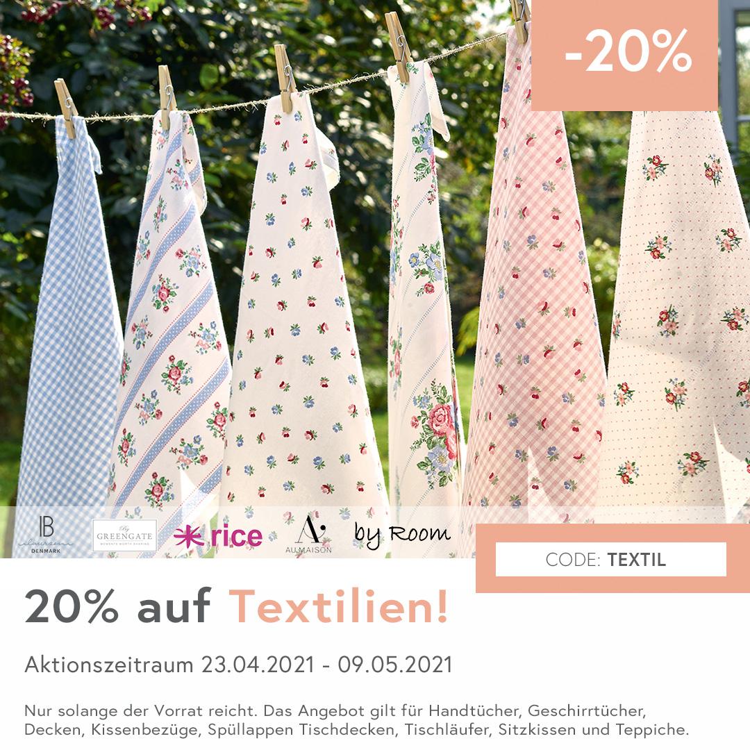 20 % Rabatt auf Textilien von Greengate uvm. bei LUCKY FABRIC season