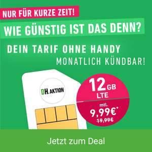 12 GB Allnet Flat für 9,99€ monatlich LTE 50Mbit O2/Telefonica (Allnet/SMS, VoLTE und VoWiFi, (monatlich kündbar)