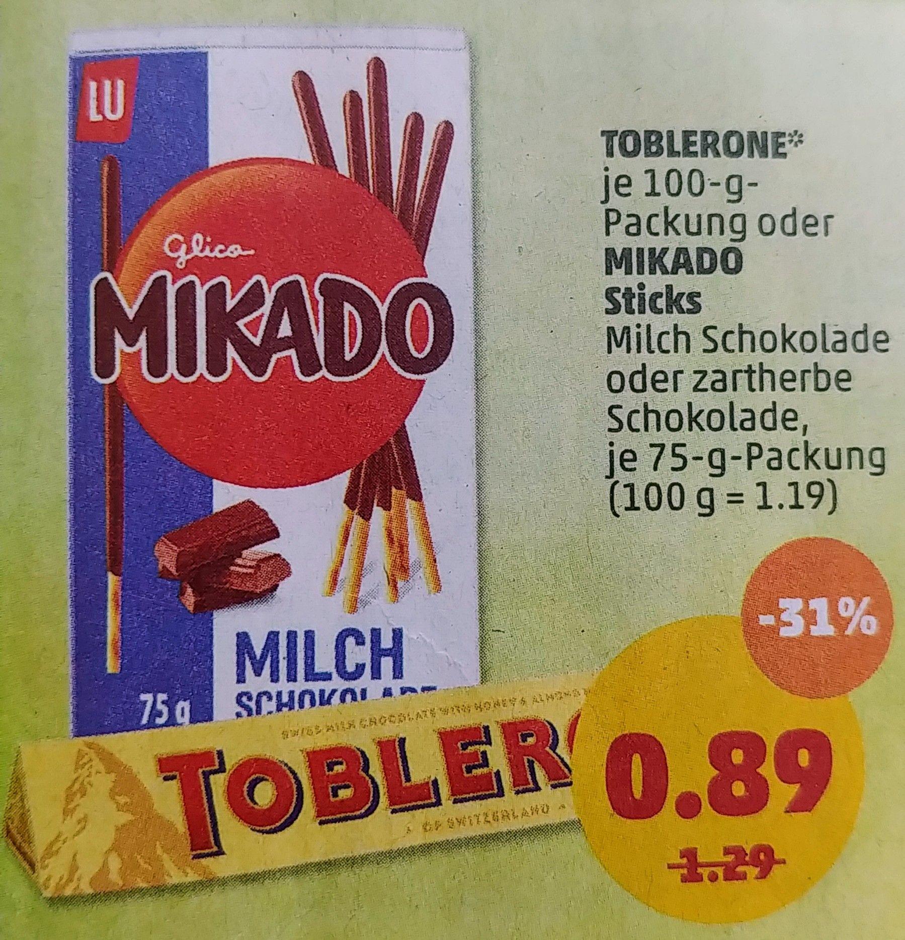 Bei Penny: Toblerone 100g, für €0,89 - nach Abzug v. €0,40 Cashback auf Marktguru für nur €0,49!