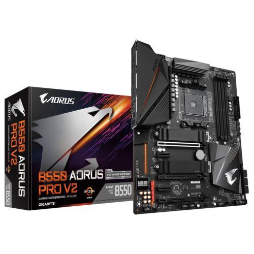 Gigabyte B550 Aorus Pro V2 - AM4-Mainboard, ATX, 2.5 GBit/s LAN, ALC1220, Type-C-Header