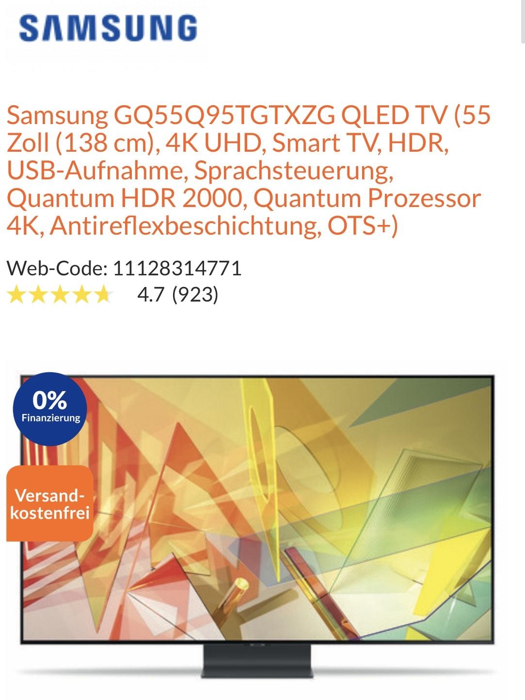 Samsung GQ55Q95TGTXZG für 1095€ bei expert