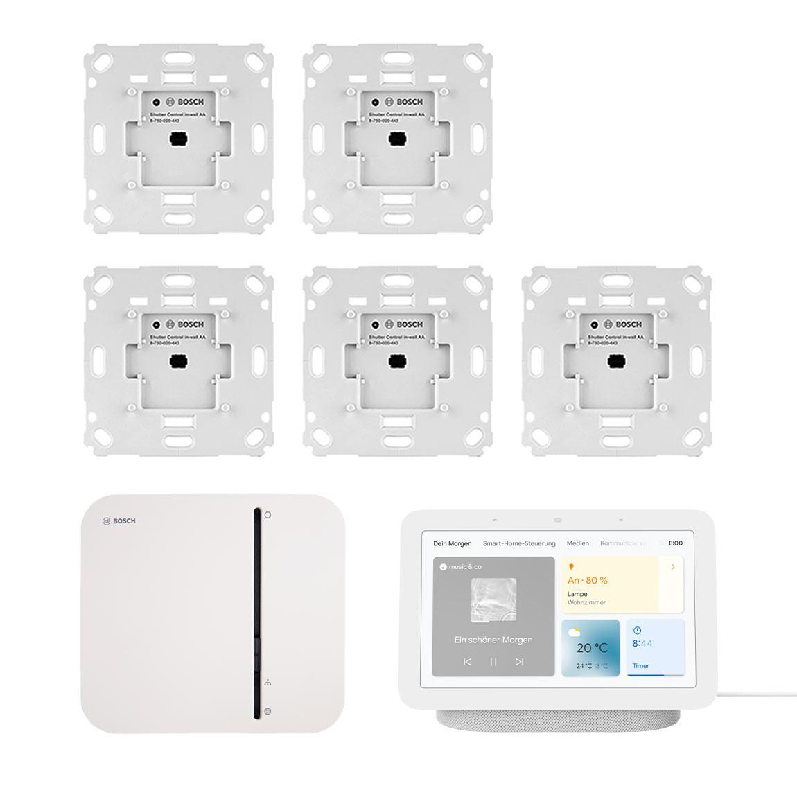 Bosch Smart Home - Starter-Set Rollladensteuerung + Google Nest Hub + Spotify