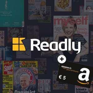 2 Monate Readly Magazin-Flatrate gratis + 5€ Amazon Gutschein für Neukunden (u.a. mit Auto Bild, Rolling Stone, Sport Bild, etc.)