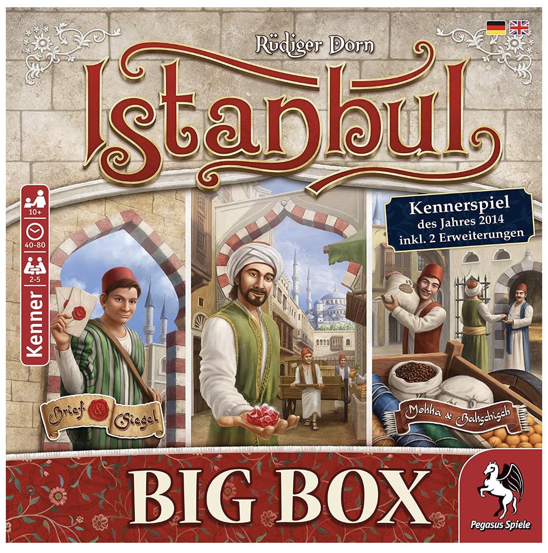 [Amazon Prime] Pegasus Spiele 55119G: Istanbul Big Box (Rüdiger Dorn, Kennerspiel des Jahres 2014, BGG 7.6)