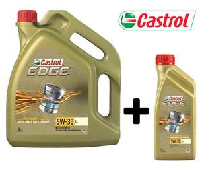 6 Liter Castrol Edge Motoröl 5W-30 LL Long Life