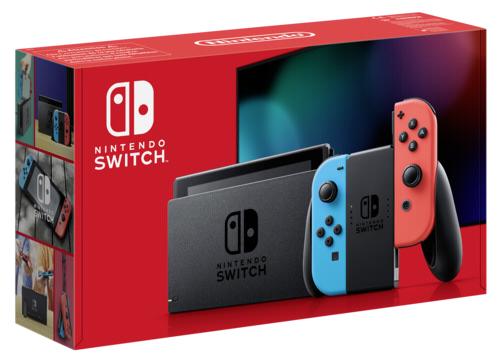 [Maingau Kunden inkl. NL Gutschein] Nintendo Switch Neon-Rot / Neon-Blau (neues Modell 2019)