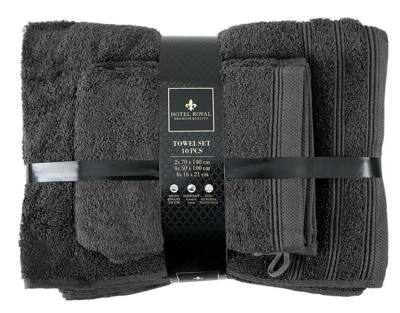 [Action] Handtuchset 10-teilig Baumwolle 550g pro qm