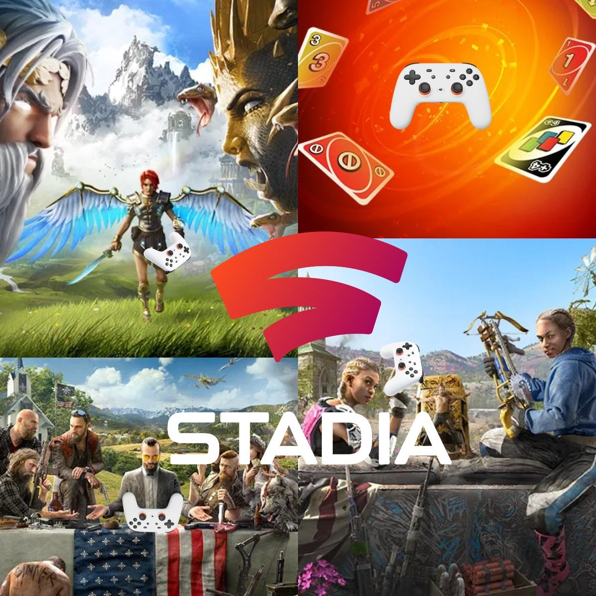 Wochenangebote Stadia Pro und Stadia u.a. Immortals Fenyx Rising, Far Cry