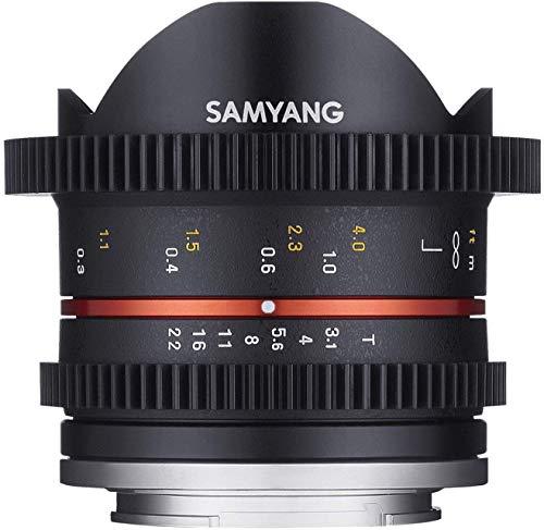SAMYANG 14008T3.1CM T3.1 Cine UMC FISH-EYE II Objektiv für Anschluss Canon M (8mm)