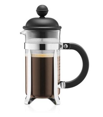 Bodum CAFFETTIERA Kaffeebereiter mit Kunststoffdeckel, 3 Tassen, 0.35 l, Edelstahl