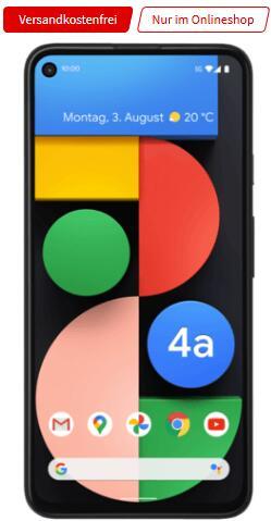 Google Pixel 4a 5G 128GB im O2 All-In M 12GB LTE für 19,99€ monatlich, 79€ einmalig + 20€ Shoop Cashback