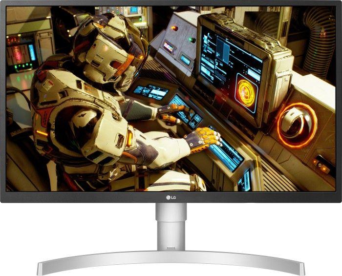 """LG 27UL550-W, 27"""" 4K Monitor (IPS, 10bit, 5ms, 99% sRGB, VESA, FreeSync, Pivot, DP, höhenverstellbar)"""