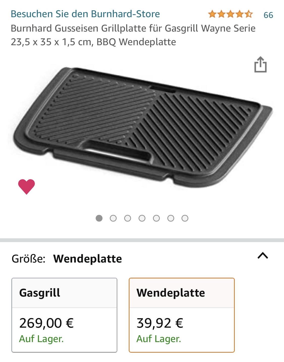 Burnhard Gusseisen Grillplatte für Gasgrill Wayne
