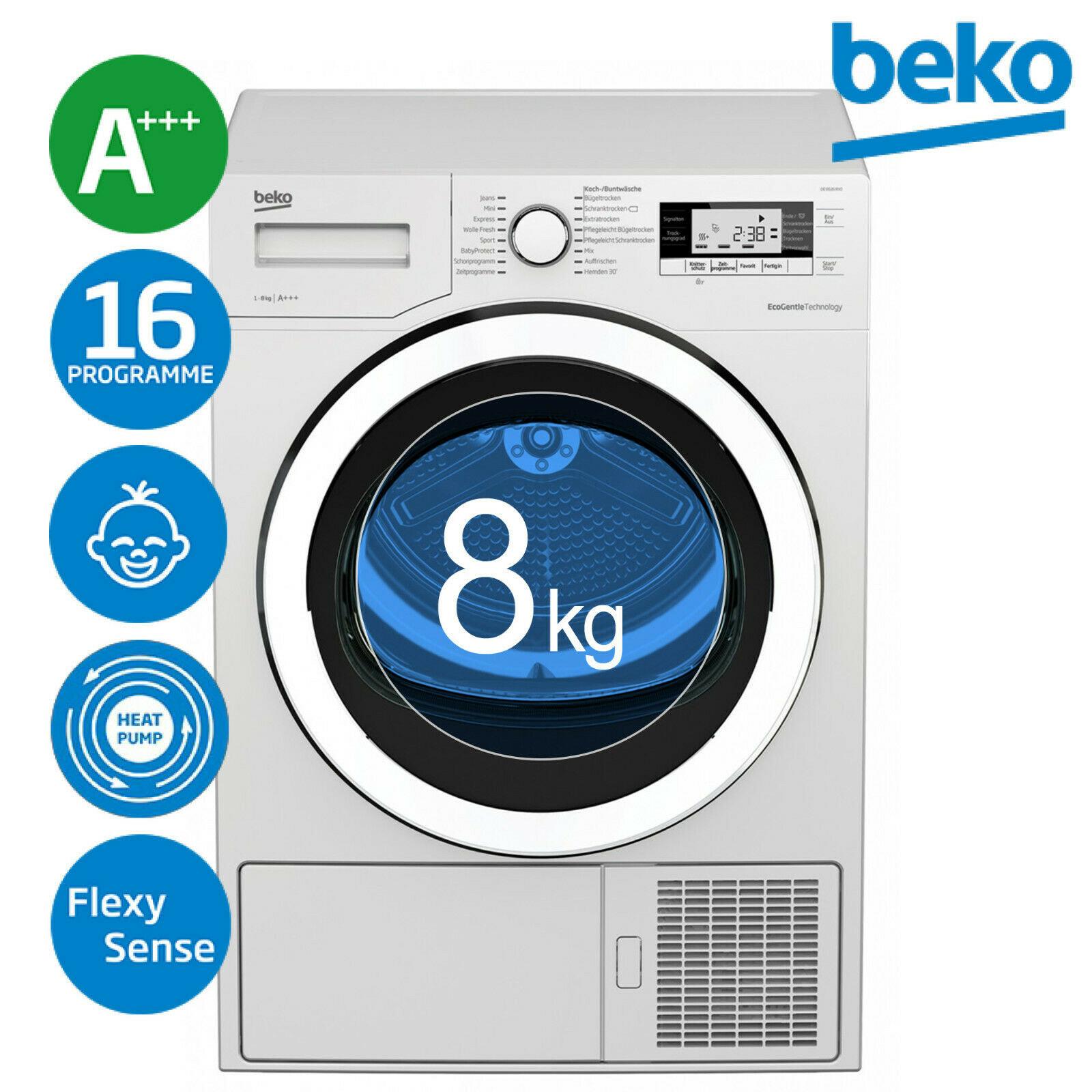 [eBay WoW] Beko DE8535RX0 A+++ Trockner Wäschetrockner Wärmepumpentrockner 8kg