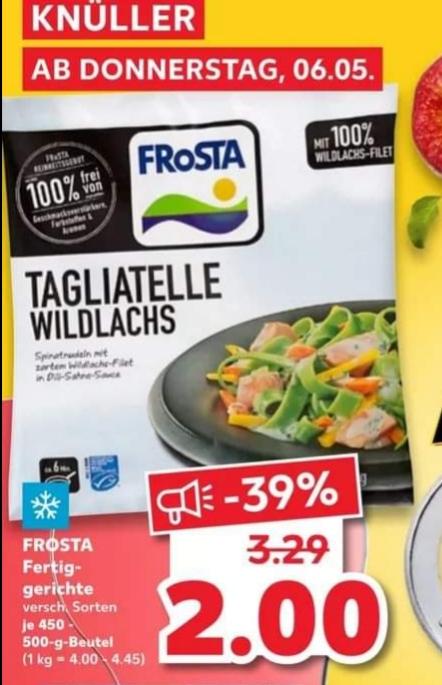 500g Frosta Fertiggerichte 2€, C&W Lust auf Kuchen 2€, Beyond Burger 3,49 & mehr Angebote [Kaufland]