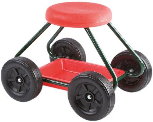 Wenko, Gartenrollsitz, mit Ablage, Metall-Kunststoff, Tragkraft 90 kg