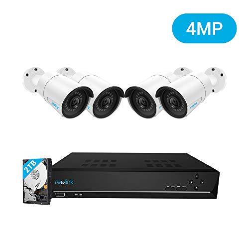 [ Amazon / Prime ] Reolink 8CH 4MP Überwachungskamera Set / Innen & Außen / 4X 4MP PoE IP Kamera & 2TB HDD NVR für 24/7 Aufnahme / IP66