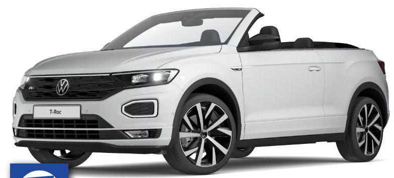 Privat: VW T-Roc Cabrio R-Line mit 150 PS für 299€ mtl. + Alu-Winterkompletträder