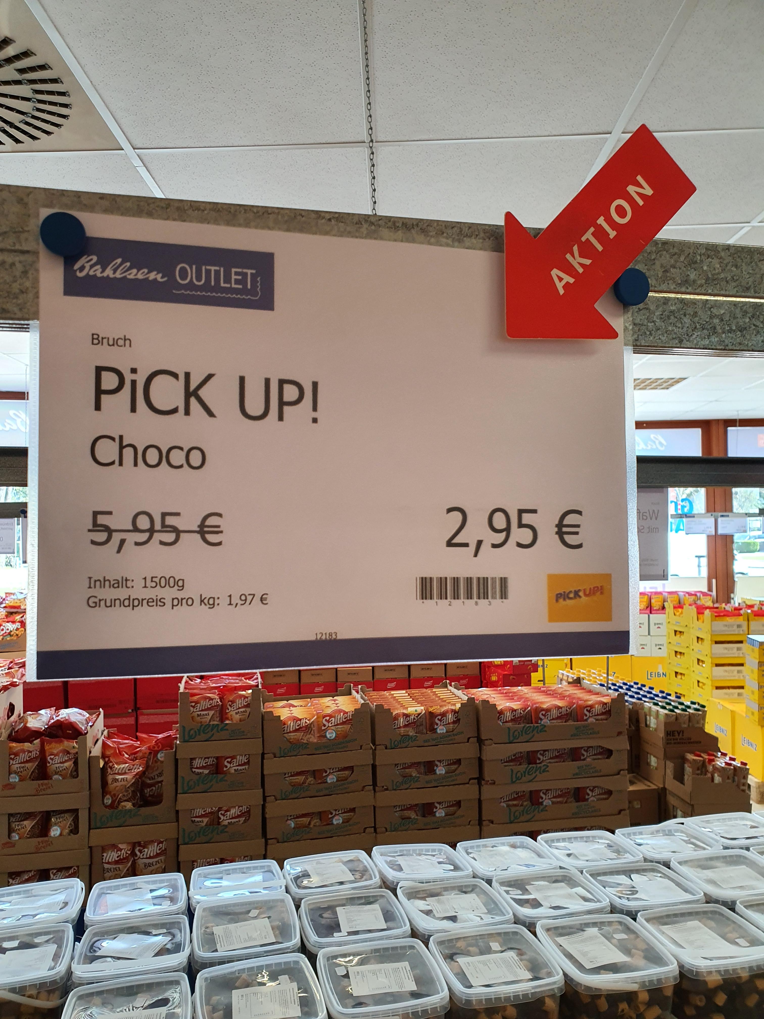 [ LOKAL - Hamburg West ] [ Bahlsen Outlet ] Sammeldeal - z.B. PiCK UP! Choco ( Bruch ) 1,5kg = 2,95€ / Messino Dark Temptation = 30 Cent
