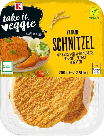 K-Take it Veggie: Vegan Schnitzel, Nuggets oder Burger je 200g für 1,49€ [Kaufland]
