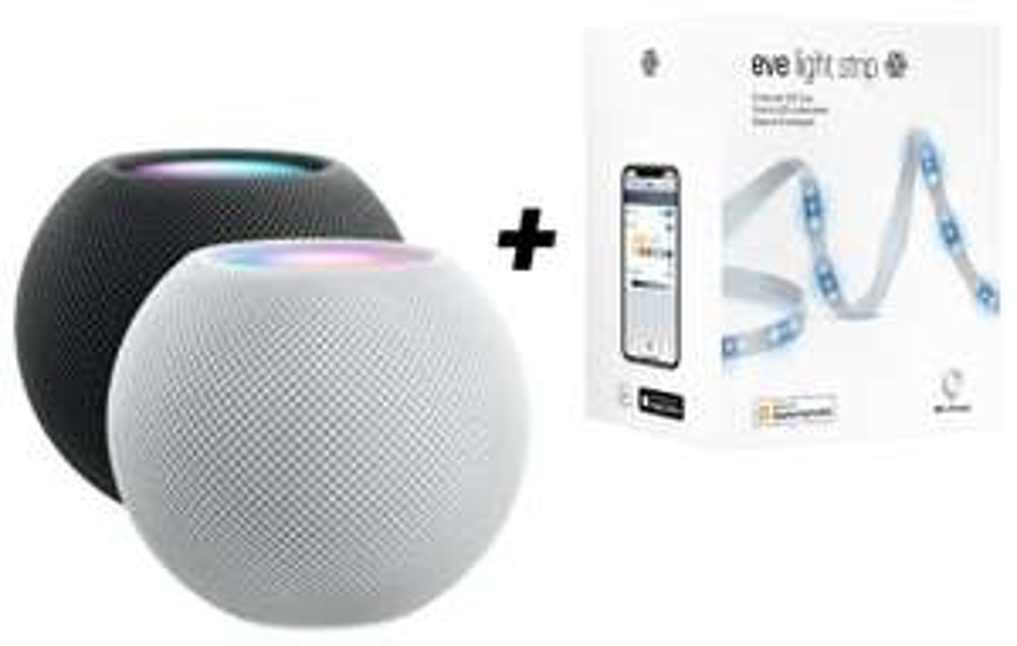 Apple HomePod Mini + Elgato EVE Light Strip 2m weiß u. farbig für zusammen 139€ inkl. Versandkosten