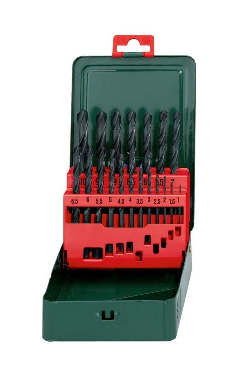 Metabo HSS-R Bohrerkassette, 19-teiliges Spiralbohrer Set nach DIN 338