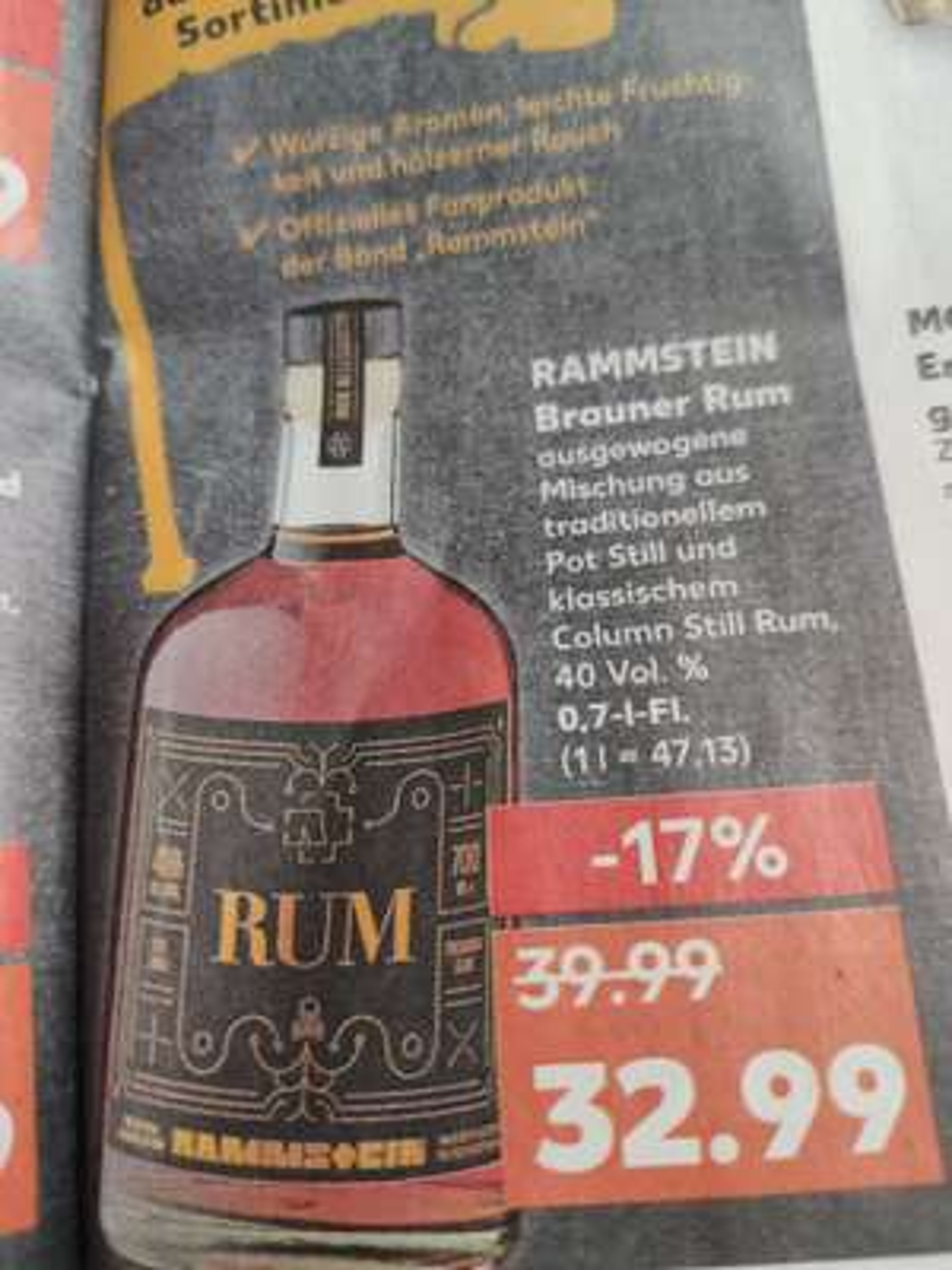 Rammstein Rum bei Kaufland