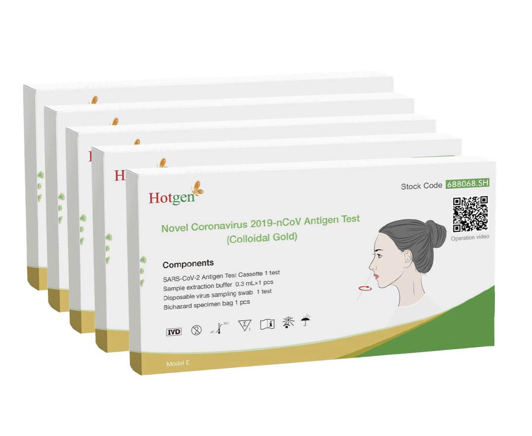 Hotgen Corona Antigen Selbsttest, 5 Stück