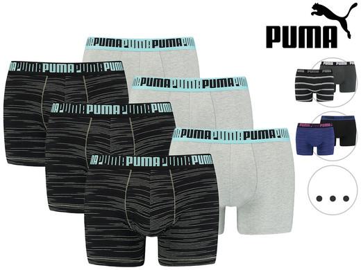 6x PUMA Boxershorts (Verschiedene Farbvarianten verfügbar, Größe S - XL) [iBOOD]