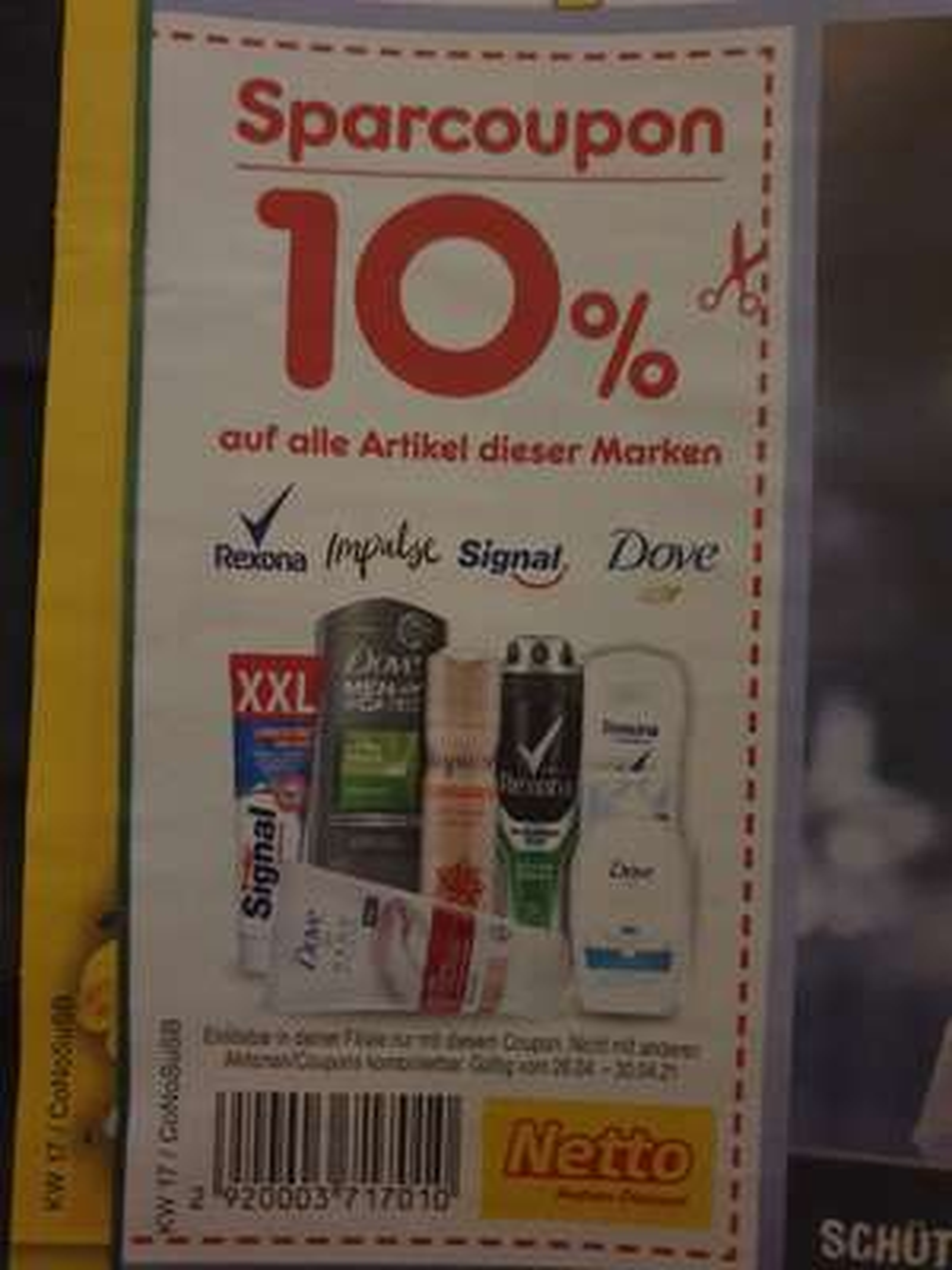 (Netto) 10% auf Rexona, Impulse, Signal, Dove