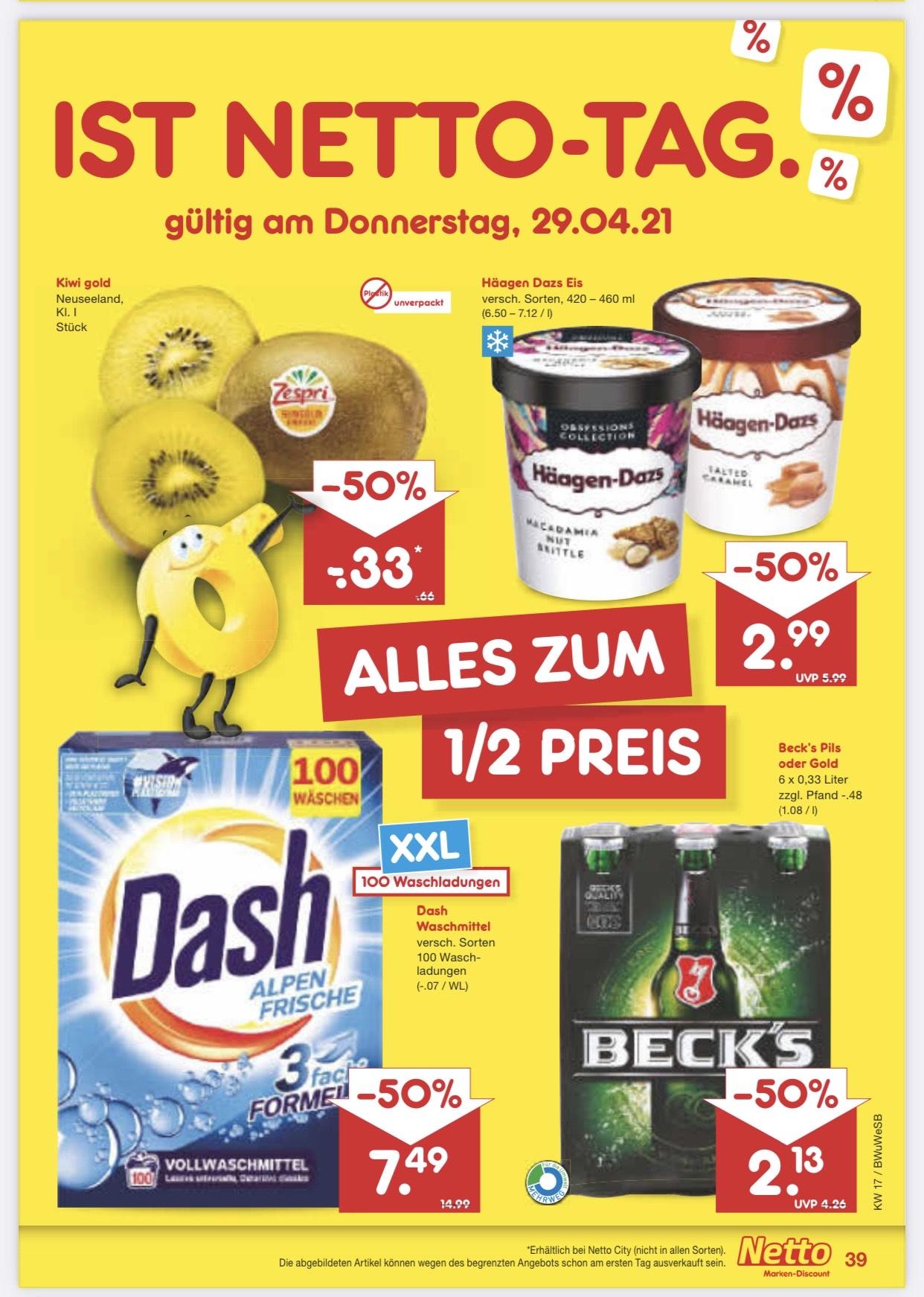 """[lokal Bielefeld] Netto MD Beckhausstraße """"10% auf alles"""" z.B. Häagen Dazs für 2,69€"""