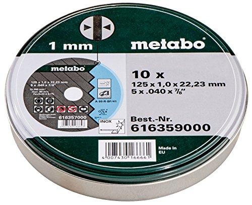 [Prime] Metabo Promotion Trennscheiben 125x1,0x22,23 Inox, 10 Stück in Blechdose