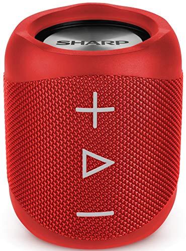 [Prime] Sharp GX-BT180 (RD) Stereo-Bluetooth-Lautsprecher - kräftiger Bass - hochdynamischer Klangbereich / 10 Stunden Spielzeit
