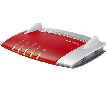 AVM FRITZ!Box 7490 WLAN-Router Dual-Band (2,4 GHz/5 GHz) Gigabit Ethernet 3G Rot, Silber